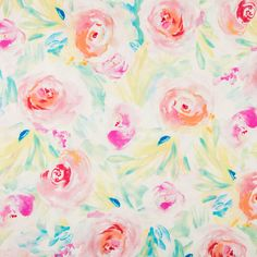 Tropical & White Petal Bright Apparel Fabric Guest room