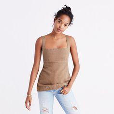 Brooklyn-based Caron Callahan is known for making brilliantly functional and undeniably feminine clothes. (Her promise? Everything she designs looks good with flat shoes.) We're really into this apron top with its A-line shape. <ul><li>True to size.</li><li>Cotton/linen.</li><li>Machine wash.</li><li>Import.</li><li>Madewell.com only.</li></ul>
