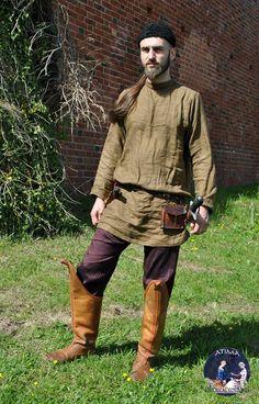 Polovets - linen byzantine type shirt, silk trousers