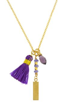 Believe Tassel Charms Necklace