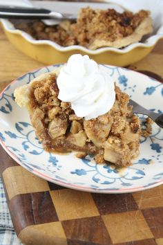 Apple Pie with Pecan Crumble Recipe from Miss in the Kitchen