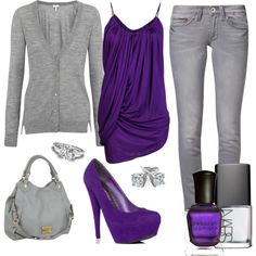love the purple top! I'd wear it with different pants though