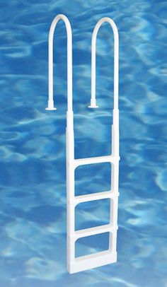 Economy above ground pool ladders provide a safe and convenient way to enter and exit above ground swimming pools. Can be installed on any above ground pool deck.
