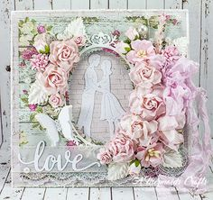 Hello, everyone and happy Monday! Lisa here to share a couple of wedding cards with you today featuring several Wild Orchid Crafts flower. Hand Made Greeting Cards, Making Greeting Cards, Wedding Cards Handmade, Beautiful Handmade Cards, Scrapbook Paper Crafts, Scrapbooking, Mermaid Crafts, Shabby Chic Cards, Wild Orchid