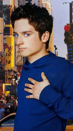 Elijah Wood. I love how that color brings out his gorgeous gorgeous eyes.