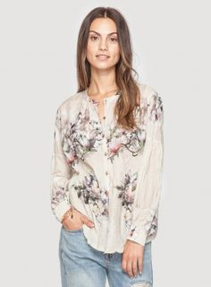 3J Workshop floral print Poet's Smock