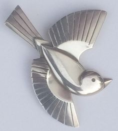 Bird Motif - jewelry - brooch by Svend Weihrauch
