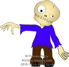 clip zombie halloween boy boys acclaimimages characters