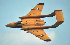 """british-eevee: """"De Havilland Sea Vixen in flight (date and location unknown) """""""