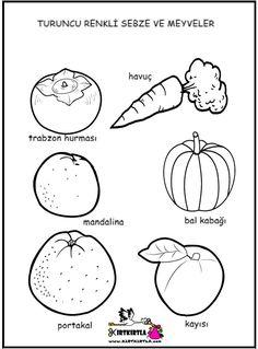 Kış Sebzeleri Boyama