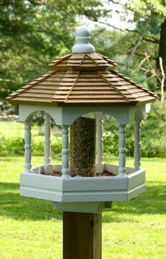 Bird Feeders | Kestrel Shutters  Doors. Think I have found my replacement bird feeder. yeah!