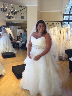 Wedding Dress Shopping for Plus Size Brides   Pretty Pear Bride   Casablanca Bridal from Della Curva   See more here: http://prettypearbride.com/bridal-blogger-wedding-dress-shopping-for-plus-size-brides/