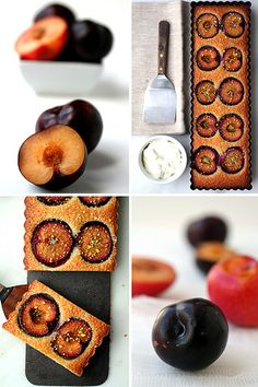 plum and almond tart by cannelle-vanille, via Flickr