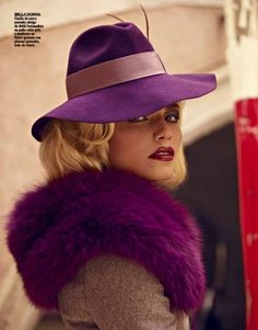 """collections-from-vogue: Natasha Poly in """"La Dolce Vita"""" Photographed By Mariano Vivanco Styled By Sara Fernández Castro For Vogue Spain, November 2011 Mode Purple, Purple Love, All Things Purple, Shades Of Purple, Deep Purple, Eggplant Purple, Magenta, Natasha Poly, Purple Fashion"""
