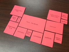 Students have to arrange rooms according to directional clues. Print the floorplan on different colored cardstock and laminate them so that they are easier to work with. This activity is a bit challenging, but all of my students stayed on task and worked well collaboratively to solve it. Afterwards, students can change up the layout and write new clues as a follow-up activity.