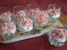 concombre, fromage frais, lait, jambon, Poivre, Sel Meat Appetizers, Appetizer Recipes, Entrees, Mason Jars, Food And Drink, Pudding, Keto, Snacks, Homemade