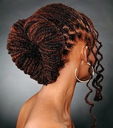 [NATURAL HAIR] Heart shaped loc style. #naturalhair #locs #styleinspiration #hairinspiration #blackisbeautiful