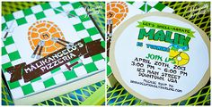 LOVE these TMNT Birthday invitations