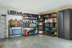 What About Tool Garage Organization? Some folks use their garages as work areas while some employ the excess space as storage for all sorts of stuff. If you own a garage, ensure that your car fits in it. A garage… Continue Reading → Garage Wall Shelving, Garage Storage Cabinets, Garage Shelf, Metal Shelves, Shelving Design, Storage Design, Shelf Design, Shelving Units, Diy Toy Storage