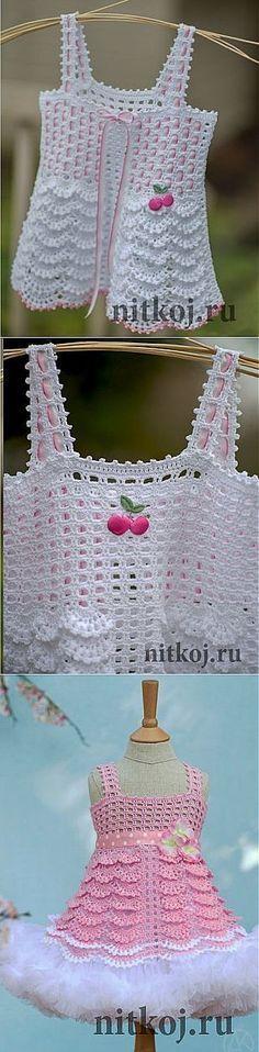 """Топ """"Сакура"""" от Аллы Коваль » Ниткой - вязаные вещи для вашего дома, вязание крючком, вязание спицами, схемы вязания"""