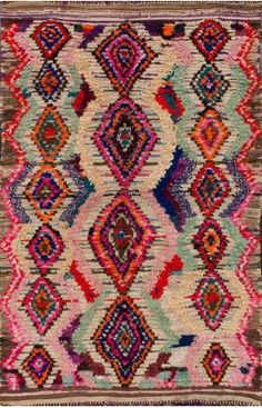 Rugs USA Moroccan Azayku Berber Multi Rug (dream on, this is gorgeous! Boucherouite, Deco Boheme, Rugs Usa, Magic Carpet, Marrakesh, Contemporary Rugs, Modern Rugs, Living Room Modern, Living Rooms