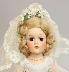 All original Madame Alexander bride doll from Pretty Dolls, Beautiful Dolls, Beautiful Bride, Antique Dolls, Vintage Dolls, Vintage Madame Alexander Dolls, Bride Dolls, Dollhouse Dolls, Hello Dolly