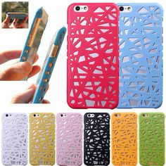 8 Colors New Bird Nest Mesh Hollow Design Hard Back Case Cover for Apple iPhone 5 5G 5S 6 6S