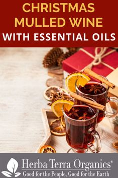 The essential oils can be used in place of the spices in mulled wines, and there's nothing more welcoming to a winter-chilled guest.   This is one of our favorite recipes, which makes for 4 cups of heavenly delicious Hot Red Mulled Wine.   Perfect for over the Holidays!   For the full recipe tap the link to our Blog!   #essentialoilrecipe #drinkswithessentialoils#herbaterraorganics #organicoils