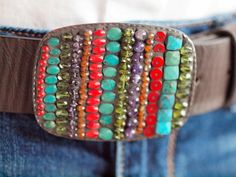 Geometric Mosaic Belt Buckle with by romyandclare