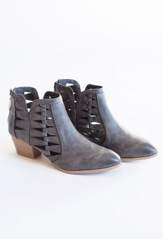 Pretty Wreckless Cut Out Bootie