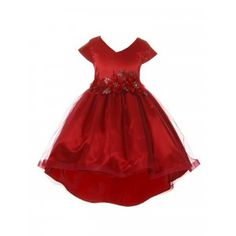 New Arrival Dresses & Outfits - Sophia's Style Girls Christmas Dresses, Holiday Dresses, Girls Dress Shoes, Dress Outfits, Satin Tulle, New Arrival Dress, V Neck Dress, Beautiful Dresses, High Low