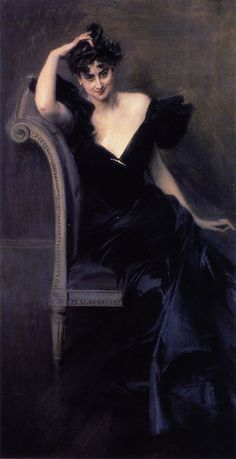 ▴ Artistic Accessories ▴ clothes, jewelry, hats in art - Giovanni Boldini | Madame Vail Picard