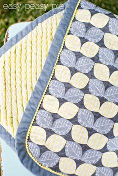 Easy Peasy Pie: Faux Chenille Baby Blanket