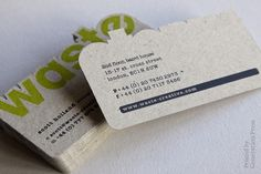 Waste Creative: Business Cards