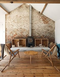 rustic interior, love these floor boards !