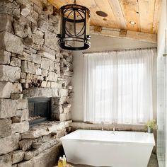 rock wall/fireplace