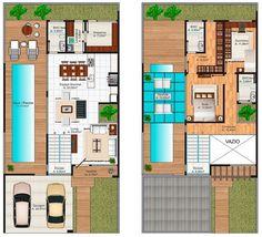 Diseño casa moderna de dos pisos [Planos] | Construye Hogar