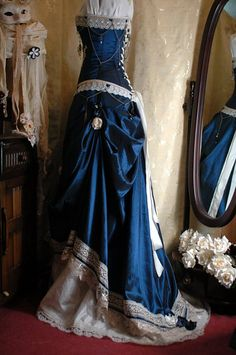 steampunk dress | Steampunk Dresses Blue Of wedding dresses