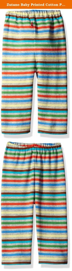 Zutano Baby Printed Cotton Pant, Stellar Stripe, 6 Months. Our pants are made with ease and comfort in mind. Zutano pants slip on effortlessly over long sleeve and short sleeve onesies and pair perfectly with tees.