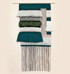 These wall hangings from Brook are stunning. Stunning. So much color & texture. #textiles #wallhanging