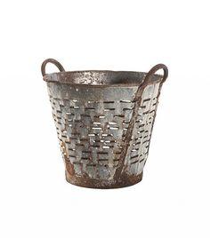 Rejuvenation Vintage Olive Basket