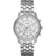 GUESS Sporty and Feminine Watch - Silver, (guess watch, guess, guess watch women, dress watches)