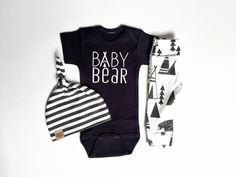 Baby Bear | baby boy take home outfit |organic cotton | baby set | baby outfit | cute baby gift | baby boy newborn | baby beanie