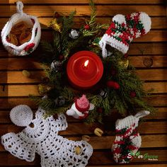 Christmas celebration with handmade crochets