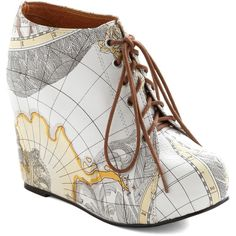 Jeffrey Campbell Mapmaking Your Move Wedge ($153) ❤ liked on Polyvore