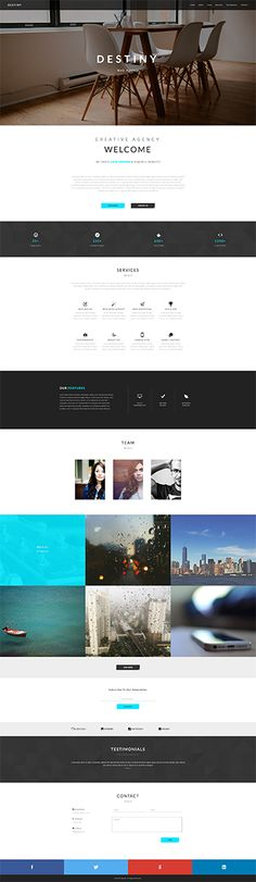 DESTINY - One Page HTML Template
