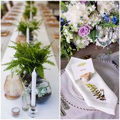 planche decoration de table fougere