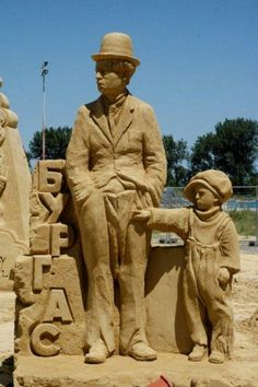 "~Sand Sculptures...""I'd like to go over there, Dad...okay?"""