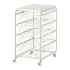 ALGOT Frame/wire baskets/top shelf/caster - IKEA $30.00 family price.  This could work in my pantry!