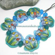 "Anastasia Lampwork Beads 7 ""Tulip Buds"" SRA   eBay"